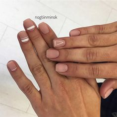 18 Pink and White Nails Designs for a Popular and Classic Mani Look ★ Matte Nails with Pink Shades Picture 4 ★ See more: http://glaminati.com/pink-and-white-nails/ #pinkwhitenails #pinknails