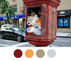 13 Beautiful Color Palettes Inspired By NYC Garbage