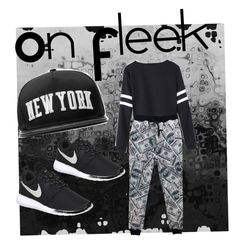 """""""On Fleek"""" by officainstacute on Polyvore featuring Stampd, NIKE, women's clothing, women's fashion, women, female, woman, misses and juniors"""