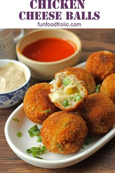 Chicken Cheese Balls are the best cheese loaded snacks for any fun party. Serve them with your favourite creamy, herby dip or sauce and you will never get back to those frozen cheese balls. Learn how to make incredible cheese balls at home. Chicken Cheese Ball Recipe, Chicken Balls, Cheese Ball Recipes, Appetizers For Party, Appetizer Recipes, Snack Recipes, Cooking Recipes, Tofu Recipes, Pakora Recipes