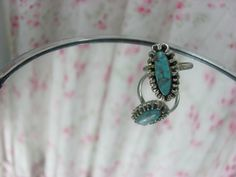 turquoise ring adjustable by foxridgeframes on Etsy, $10.00