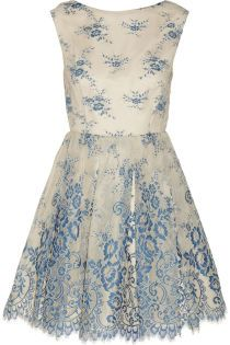 Alice + Olivia Fila embroidered tulle dress – 50% at THE OUTNET.COM