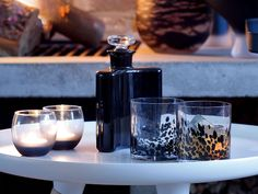 FLYMEe accessoireLSA InternationalFLASK DECANTER #interior #glass #decanter #tableware #black #black #chic