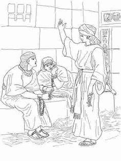 Joseph And Potiphar S Wife Coloring Page Google Search Sunday