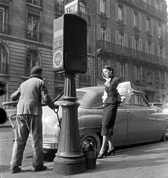 At the gas station Paris 1950 Roger Parry