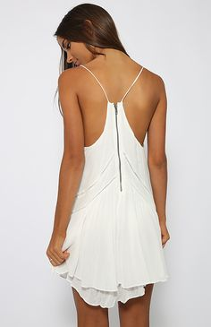 The Time Dress - White   New Arrivals   Peppermayo