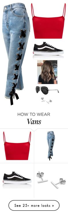 """Untitled #5886"" by twerkinonmaz on Polyvore featuring Sans Souci, Vans, Ray-Ban and Myia Bonner"