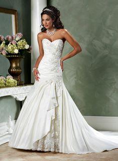 Une ligne-aimée sans bretelles de mariage robe en taffetas - Robes de Mariage Boutique