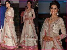 Genelia D'Souzza looks gorgeous in Manish Malhotra Anarkali