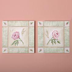 Cottage Rose Canvas Reproductions, Set of Two @PoshTots