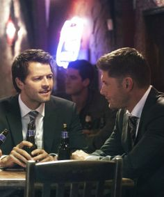 """This is how it was supposed to be when Cas lost his grace. They were supposed to take him out show him the ropes and have a beer and some laughs afterward. It breaks my heart everything that's happened because of Gadreel yes Sam wouldn't be alive without him but maybe Kevin would still be alive if Dean had just confided in Cas and kept him around."" 