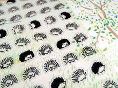porcupine sticker Hedgehog sticker wild animal by StickersKingdom