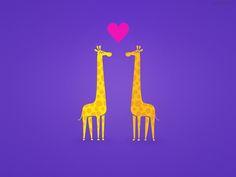 Free Wallpaper Cute cartoon giraffe couple in Love by mrsbadbugs.deviantart.com on @DeviantArt