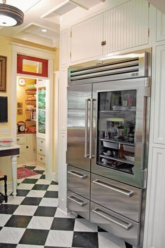 Designing an Eclectic 20th-Century Kitchen - Old-House Online LOVE that fridge!!!!