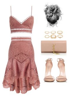 """""""Untitled #5220"""" by lilaclynn ❤ liked on Polyvore featuring Zimmermann, Yves Saint Laurent, Stuart Weitzman and Forever 21"""