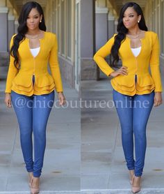 Peplum ChicClothing by chiccoutureonline