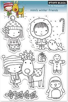 Penny Black - Clear Stamp - Mimi's winter friends