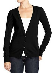 Women's Button-Front V-Neck Cardis | Old Navy