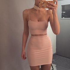 Pink bodycon dresses - Two Piece Set Crop Top and Skirts Bodycon Suit – Pink bodycon dresses Pink Bodycon Dresses, Sexy Dresses, Cute Dresses, Bandage Dresses, Short Tight Dresses, Fitted Dresses, Midi Dresses, Mode Outfits, Trendy Outfits