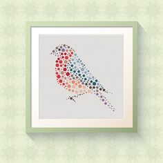 Winter Bird  Modern Cross Stitch Pattern Download  by CircleCross