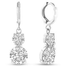 Elegant Swarovski Elements Crystal Drop Earrings in Silver, 1 Inch: These Swarovski crystal drop earrings… #DiamondJewelry #DiamondRings