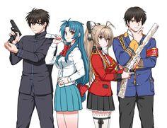 """Amagi Brilliant Park"" ""Full Metal Panic!"" Characters: ""Kaname Chidori"" ""Kanie Seiya"" ""Sagara Sousuke"" ""Sento Isuzu"""