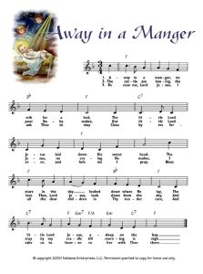 Away in a Manger - printable Christmas music Christmas Lyrics, Christmas Sheet Music, Xmas Songs, Christmas Concert, Beautiful Christmas Cards, Christmas Carol, Vintage Christmas, Christmas Plays, Christmas Games