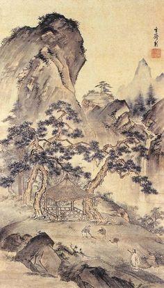 (Korea) 고사은거 by Hyeonjae Shim Sa-jeong (1707-1769). ca 18th century CE. color on paper.
