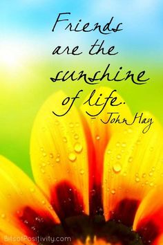 """Word art freebie based on the quote by John Hay: """"Friends are the sunshine of life."""" - Bits of Positivity Truth Questions For Teens, Truth Or Truth Questions, Some Beautiful Thoughts, Rider Quotes, Sunshine Quotes, Love Truths, Life Words, Flower Quotes, True Friends"""