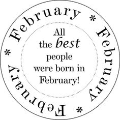 Bluebirdflats: January Birthday Sentiment and Calendar