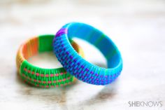 Bangles are perfect for summer. Wearing a stack of colorful bracelets makes a statement whether you're wearing jeans and a T-shirt or a simple summer dress. Want to make your own wrapped bangles? Read on for the how-to!