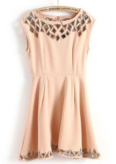 Pink Sleeveless Cut Out Dress