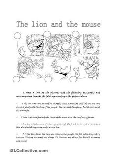 Printables The Lion And The Mouse Worksheets the lion and mouse worksheets pichaglobal english exercises on pinterest
