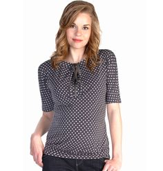 d Polka Dot Keyhole Tie Detail Blouse by Japanese Weekend | Maternity Clothes  Available at Due Maternity http://www.duematernity.com/