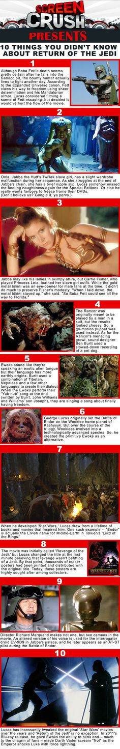 10 things you didn't know about Return of the Jedi