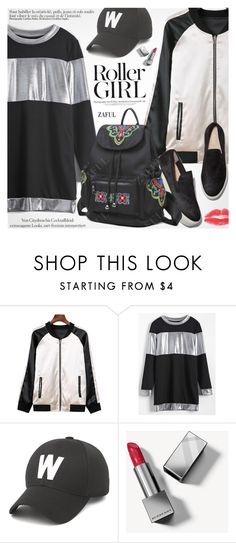 """Street Style"" by pokadoll ❤ liked on Polyvore featuring Burberry, Ciel, polyvoreeditorial and polyvoreset"