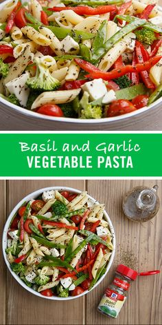 Basil brings a fresh, green aroma while garlic adds a rich sharpness to this easy pasta salad recipe, inspired by the flavors of Italy.