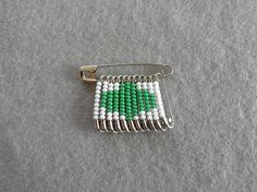 Girl Scouts Trefoil Beaded Safety Pin by CreativeSafetyPins