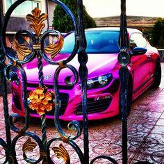 Rieger Bodykit Vossen Wheels Chrome Pink Mirror Purple Volkswagen Scirocco from Turkey