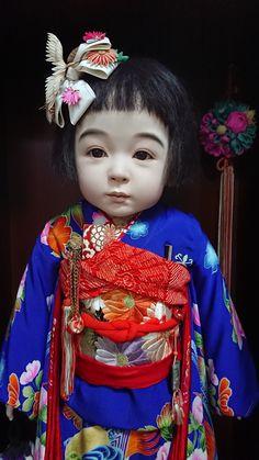 山本福松(さくら ) Old Dolls, Antique Dolls, Ichimatsu, Japanese Love, Asian Doll, Kokeshi Dolls, Japan Art, Hello Dolly, Japanese Artists