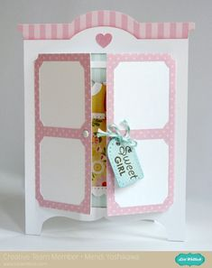 Snippets By Mendi: Lori Whitlock's March Blog Hop ~ Armoire Shaped Card