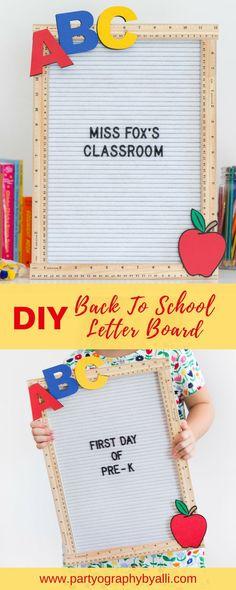 Back to School DIY Felt Letter Board - DIY Teacher's Gift Idea or First Day of School Sign