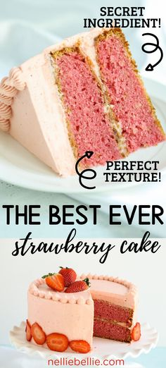This is an easy from scratch Strawberry Cake recipe. One of the secrets to great… This is an easy from scratch Strawberry Cake recipe. One of the secrets to great strawberry flavor is using a box of Jello. But there is another secret…check it out! Strawberry Cake From Scratch, Strawberry Sheet Cakes, Fresh Strawberry Cake, Strawberry Frosting, Strawberry Cake Recipes, Best Homemade Strawberry Cake Recipe, Cake With Strawberries, Strawberry Birthday Cake, Fresh Cake