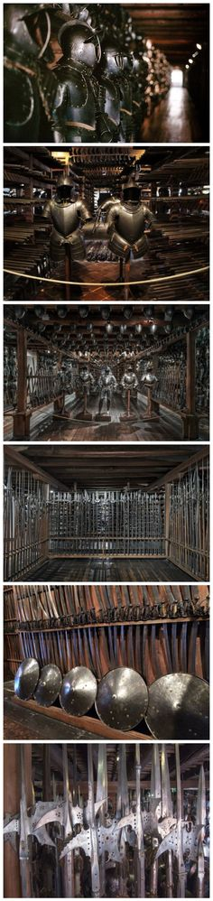 These look to me like the Imperial Armories in Graz, Austria.