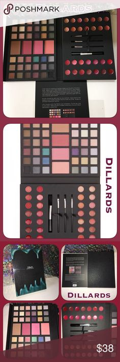 🎄NWT Dillards Makeup Color Set! Great 4 Christmas NWT only opened to photograph! Black folder case with magnetic close! 36 eyeshadows, 21 lip glosses, 7 lip balms, 4 blushes, 4 brushes! Great Christmas gift! Dillards Edge Cosmetics Makeup