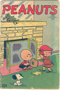 This cover is a rarely seen slice of Peanuts wonderment by Charles M. Schulz.
