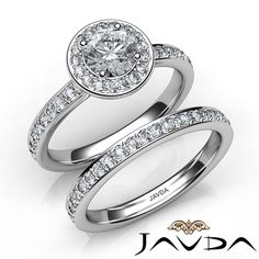 Round Diamond Engagement Ring Certified by GIA, D Color & SI1 clarity, 14k White Gold (1.89 ct. Total weight.)