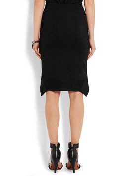 Givenchy - Cutaway Skirt In Black Stretch-ponte - x small
