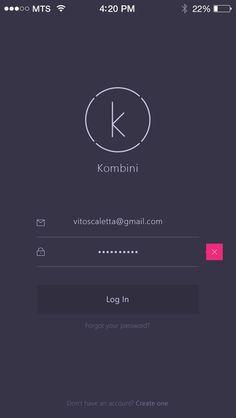 Kombini Log In screen by Vitaly Rubtsov: