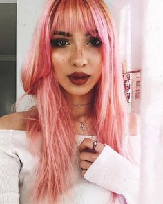 @renosaurio's selfies give us LIFE She always looks like a doll in diluted Virgin Pink
